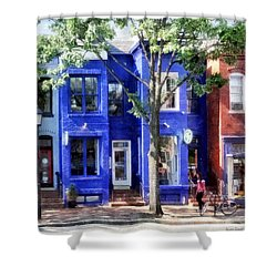 Alexandria Va - Colorful Street Shower Curtain