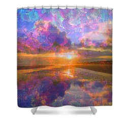 Colorful Sunset By Jan Marvin Shower Curtain