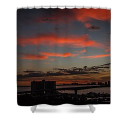 Shower Curtain featuring the photograph Colorful Sunset by Jane Luxton