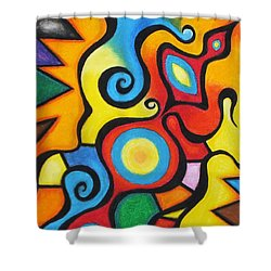 Colorful Shower Curtain by Sven Fischer