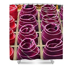 Colorful Ties Shower Curtain by Dany Lison