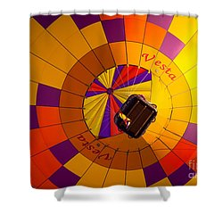 Colorful Underbelly Shower Curtain by Inge Johnsson