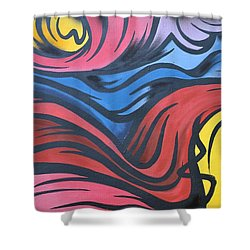 Shower Curtain featuring the photograph Colorful Urban Street Art From Singapore by Imran Ahmed