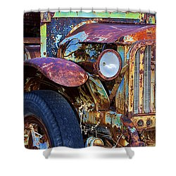 Colorful Vintage Car Shower Curtain by Phyllis Denton
