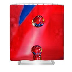 Shower Curtain featuring the photograph Colorful Water Drop by Peter Lakomy