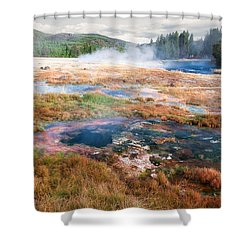 Colorful Waters Shower Curtain by Lars Lentz