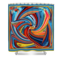 Colorful Waves Shower Curtain by Ben and Raisa Gertsberg