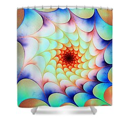 Shower Curtain featuring the digital art Colorful Web by Anastasiya Malakhova