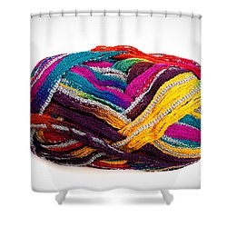 Colorful Yarn Shower Curtain by Les Palenik