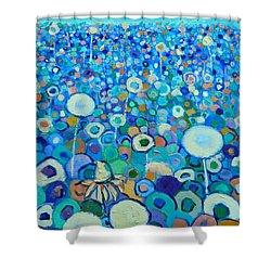 Colors Field In My Dream Shower Curtain by Ana Maria Edulescu