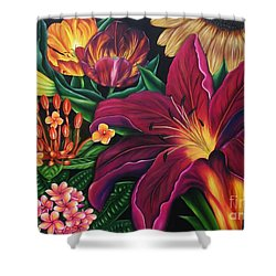 Colors Garden Shower Curtain