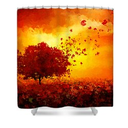 Colors Hymn Shower Curtain by Lourry Legarde