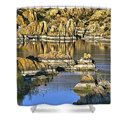 Colors In The Rocks At Watsons Lake Arizona Shower Curtain