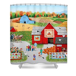 Colors Of Autumn Shower Curtain by Wilfrido Limvalencia