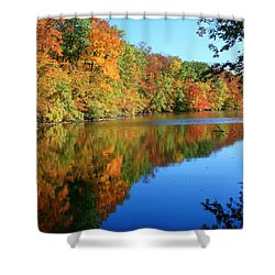 Colors Of Fall Shower Curtain by Susan  McMenamin