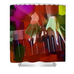 Colors Of Music Shower Curtain by Kume Bryant