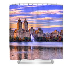 Colors Of New York Shower Curtain by Midori Chan