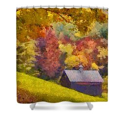 Colors Of October Shower Curtain by Elizabeth Coats