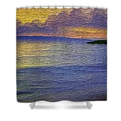 Shower Curtain featuring the digital art Colors Of Paradise by Anthony Fishburne