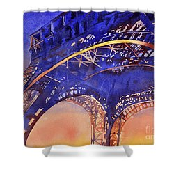 Colors Of Paris- Eiffel Tower Shower Curtain