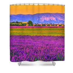 Colors Of Provence Shower Curtain by Midori Chan