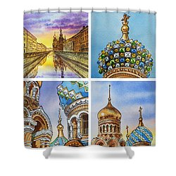 Colors Of Russia Church Of Our Savior On The Spilled Blood  Shower Curtain by Irina Sztukowski