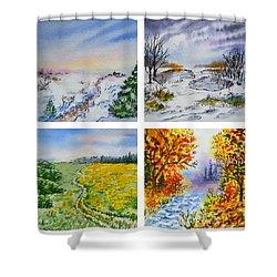 Colors Of Russia Four Seasons Shower Curtain by Irina Sztukowski