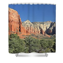 Shower Curtain featuring the photograph Colors Of Sedona by Penny Meyers