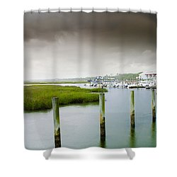 Shower Curtain featuring the photograph Colors Of The Coast by Steven Santamour