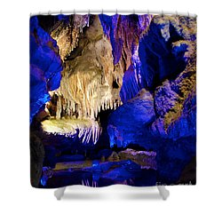 Colors Of The Pool Shower Curtain by Mark Dodd