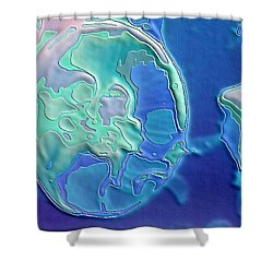 Shower Curtain featuring the photograph Colors Of The Sea 2 by Nadalyn Larsen