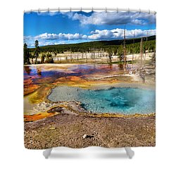 Colors Of Yellowstone National Park Shower Curtain