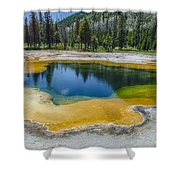 Colors Of Yellowstone Shower Curtain