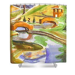 Colors On A Cloudy Day II Shower Curtain by Kip DeVore