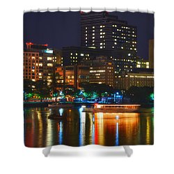 Colors On The Charles Shower Curtain by Joann Vitali