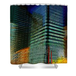 Shower Curtain featuring the digital art Colors by Stuart Turnbull