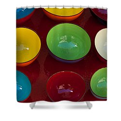 Colors Tray Shower Curtain by Dany Lison