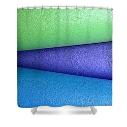 Colorscape Tubes B Shower Curtain