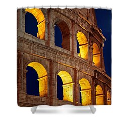 Colosseum And Moon Shower Curtain by Inge Johnsson