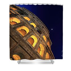 Colosseum At Night Shower Curtain by Stefano Senise