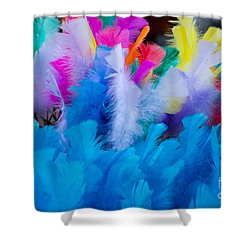 Coloured Easter Feathers Shower Curtain