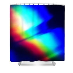 Shower Curtain featuring the photograph Coloured Light by Martin Howard