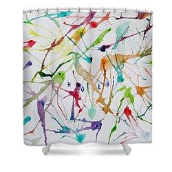 Colourful Holi Shower Curtain by Sonali Gangane