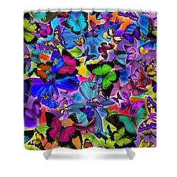 Colours Of Butterflies Shower Curtain by Alixandra Mullins