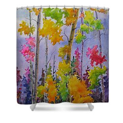 Colours Of Fall Shower Curtain by Mohamed Hirji