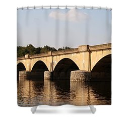 Shower Curtain featuring the photograph Columbia Bridge by Christopher Woods