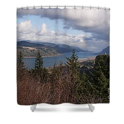 Columbia Gorge Shower Curtain by Belinda Greb