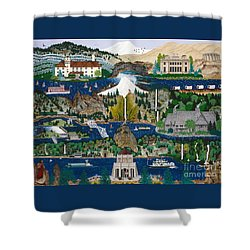 Columbia River Gorge Shower Curtain by Jennifer Lake