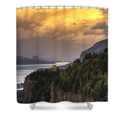 Columbia River Gorge Vista Shower Curtain