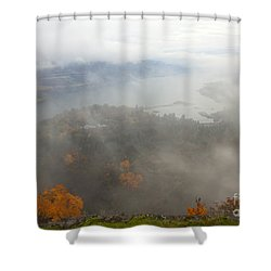 Columbia River Hidden Shower Curtain by Mike  Dawson